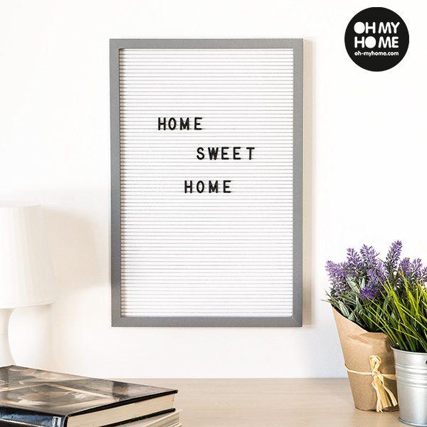 xekios Tableau pour Chiffres et Lettres Oh My Home (30 x 45 cm)
