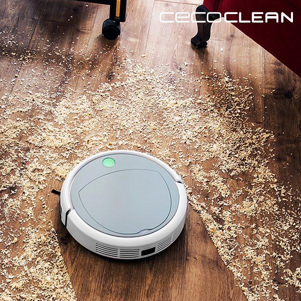 xekios Robot Aspirateur Cecoclean Slim 890 5041 0,3 L 11,1 V Blanc Gris