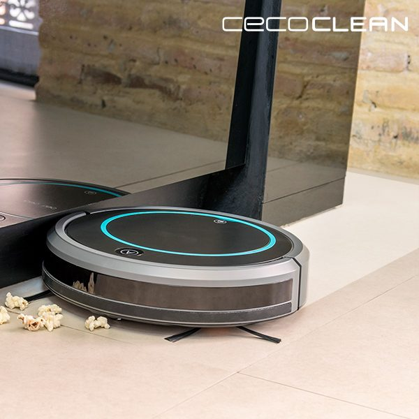 xekios Robot Aspirateur avec Serpillère et Réservoir de Liquides Cecoclean Wet 5048 0,3 L 11,1 V Gris Noir
