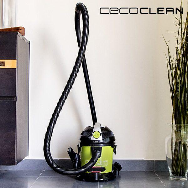 xekios Aspirateur pour Solides et Liquides Cecoclean Wet & Dry Easy 5033 10 L 1000W Noir Vert
