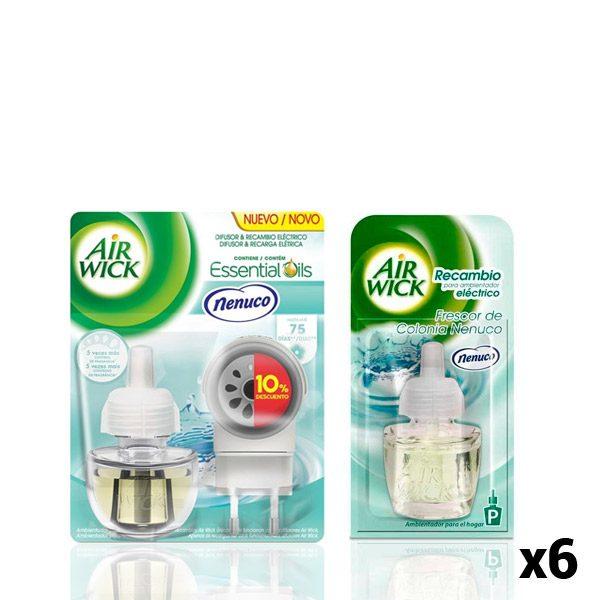 xekios Pack Diffuseur Électrique + 6 Recharges Air Wick Nenuco