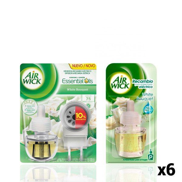 xekios Pack Diffuseur Électrique + 6 Recharges Air Wick White Bouquet