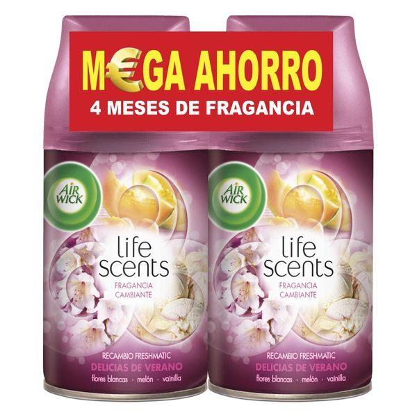 xekios Recharge pour désodorisant Air Wick FreshMatic Duplo Life Scents Délices d'Été 2 x 250 ml