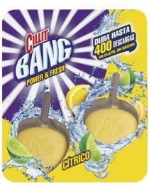 xekios Bloc pour Toilettes avec Pastilles Marine WC Power & Fresh Cillit Bang (Pack de 2)