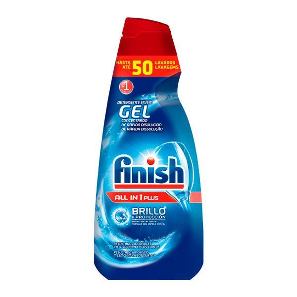 xekios Détergent pour Lave-Vaisselle Finish Gel Tout en Un Plus 1 L (50 Doses)