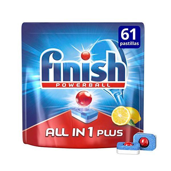 xekios Pastilles pour Lave-Vaisselle Finish Tout en Un Plus Citron (61 Un.)