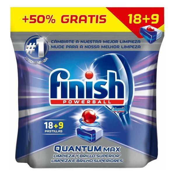 xekios Tablettes pour Lave-Vaisselle Finish Quantum Regular (27 Doses)