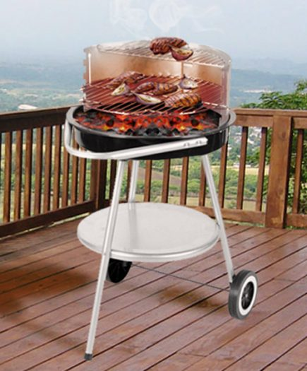 xekios Barbecue Charbon avec Roulettes et Gril Réglable