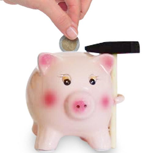 xekios Tirelire Cochon Céramique avec Marteau