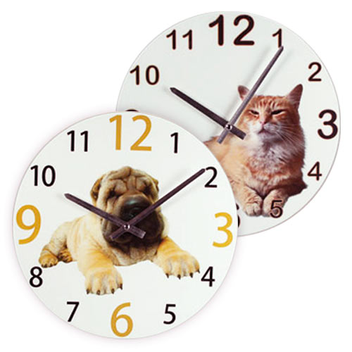 xekios Horloge Murale Chats et Chiens