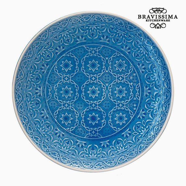 xekios Assiette plate Porcelaine Bleu by Bravissima Kitchen