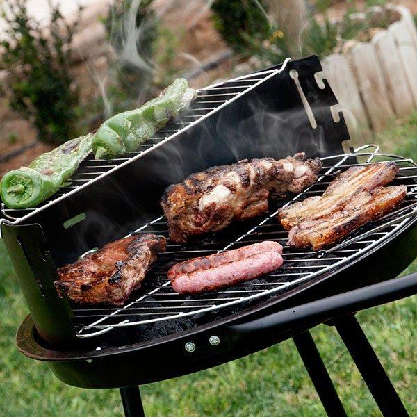 xekios Barbecue à Charbon avec Double Niveau BBQ Classics