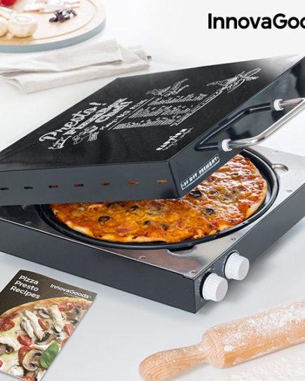 xekios Appareil à Pizza Électrique avec Livre de Recettes Presto! InnovaGoods 1200W Noir