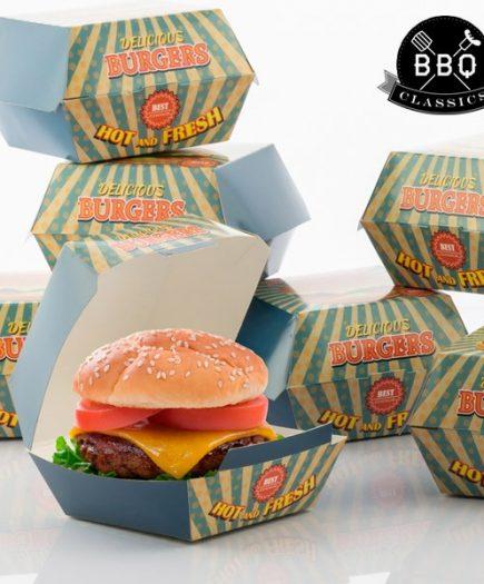xekios Ensemble de Boîtes pour Hamburgers BBQ Classics (Pack de 8)