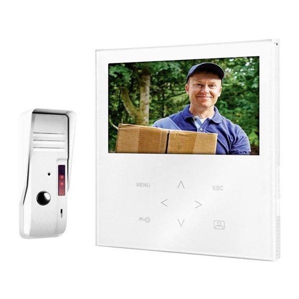 xekios Sonnette avec Visiophone Filaire Smartwares VD71SW