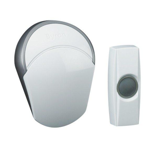 xekios Sonnette Sans Fil avec Bouton-Pressoir Smartwares BY502E