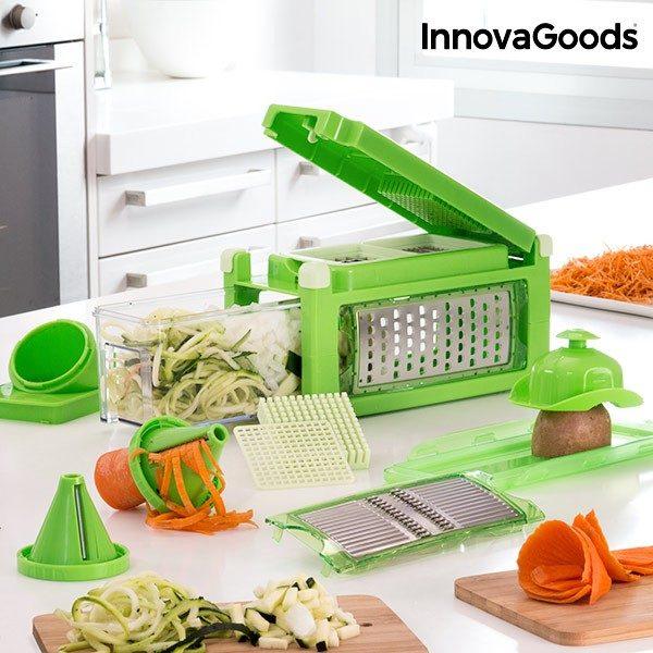 xekios Coupe et Râpe Légumes 8 en 1 avec Livre de Recettes InnovaGoods