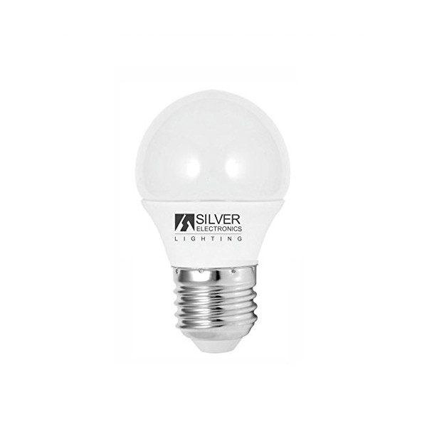 xekios Ampoule LED Sphérique Silver Electronics ECO E27 4W Lumière chaude