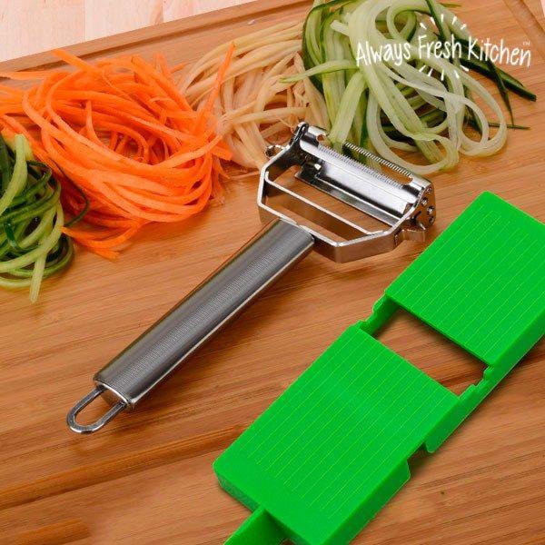xekios Mandoline Épluche-Légumes Slide & Slice 2 en 1