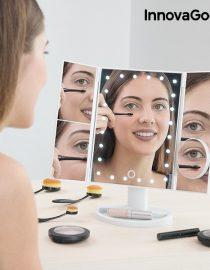 xekios Ensemble de Brosses de Maquillage Professionnel Ovales InnovaGoods (11 Pièces)