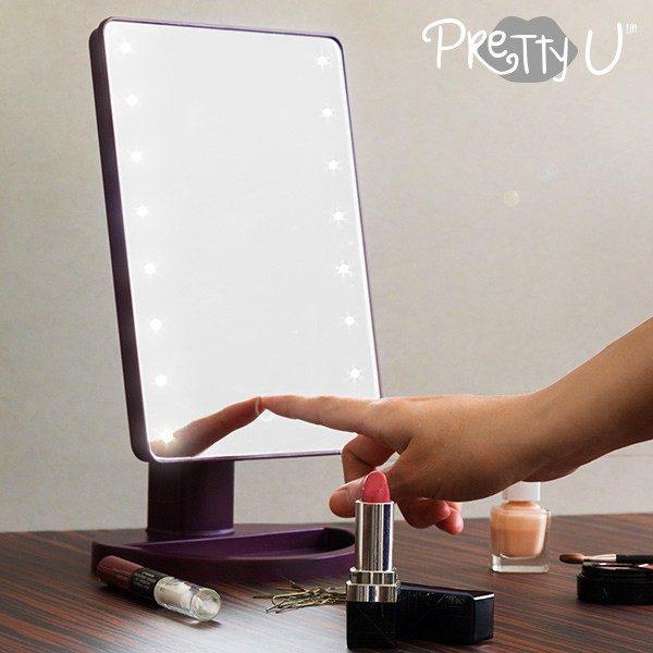 xekios Miroir LED de Table Pretty U