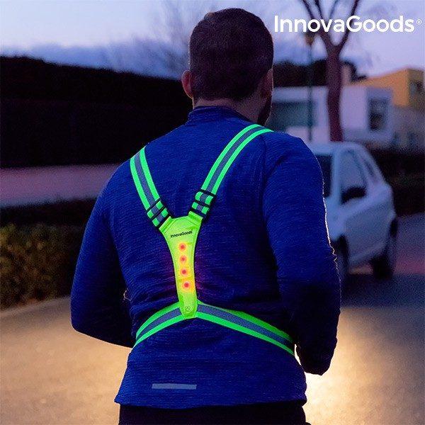 xekios Harnais Réfléchissant avec LED pour Sportifs InnovaGoods