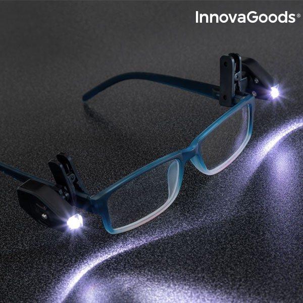 xekios Clip LED pour Lunettes 360° InnovaGoods (Pack de 2)